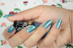 beaming blue brocades nail polish