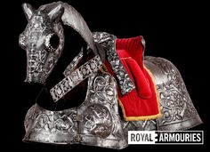 One set of horse armour belonging to Henry VIII, it is known as the Burgundian bard.