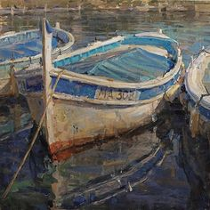 Boat in Cassis France - By famous artist Derek Penix