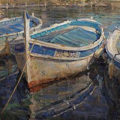 Boat in Cassis France - By famous artist Derek Penix