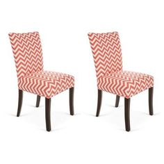 Check out this item at One Kings Lane! Red Bea Side Chairs, Pair.