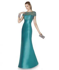 Foto 5 de 25 Modelo Abate. Elegante traje de fiesta para madrinas en color aguamarina | HISPABODAS