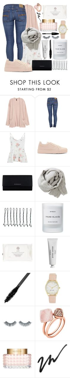 """#50"" by oneandonlyfashion ❤ liked on Polyvore featuring Nudie Jeans Co., Jil Sander, Givenchy, Brunello Cucinelli, BOBBY, Byredo, Nine West, Napoleon Perdis, Michael Kors and Valentino"