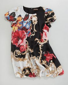 Floral-Print Dress by Roberto Cavalli at Neiman Marcus. A girl can dream.