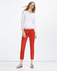 ZARA - COLLECTION SS16 - MID-RISE TROUSERS WITH BELT