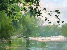 Shenandoah River at Dusk 9x12 http://morgansamuelprice.com/gallery.php