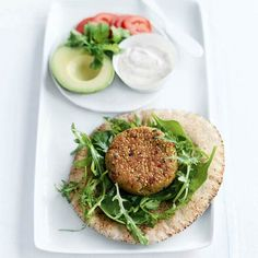 Quinoa and Chickpea Burgers - Swap out your usual beef burgers with this quinoa and chickpea version for a meatless meal your whole family will enjoy.