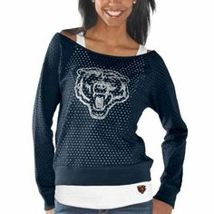 Touch by Alyssa Milano Chicago Bears Ladies Holy Sweatshirt & Tank Set - Navy Blue