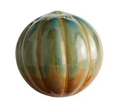 """decorative ball for coffee table bowl...............................   Pier 1 Reactive Ribbed Ceramic Sphere (Size: 4"""" di)  Clearance $2.98"""