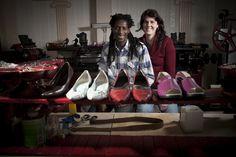 Julie Dion et Seïdou Dembélé, fondateurs de la cordonnerie Dakissa