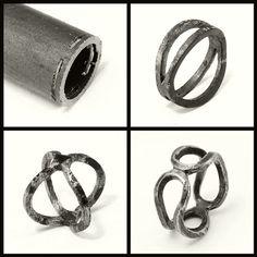 Double Bent Band - iron | da Blind Spot Jewellery