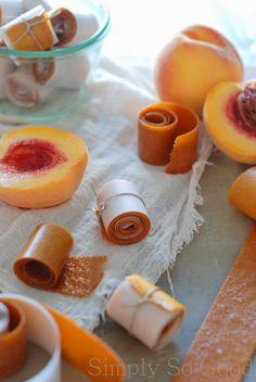 Simply So Good: Peach Fruit Leather. Yes! I'm Still on a Peach Kick.