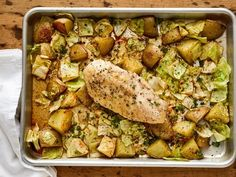 A classic meat-and-potatoes meal. This easy sheet pan dinner is packed with fiber and protein. Cabbage Recipes, Beef Recipes, Chicken Recipes, Cooking Recipes, Healthy Recipes, Healthy Dinners, Recipies, Pan Cooking, Chicken Meals