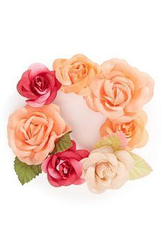 What a great idea--a floral bun wrap!
