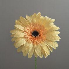 Crepe Paper Gerber Daisy, Single Stem - Wedding Flowers - Home/Office Decor - Florist Supply - Paper Flowers