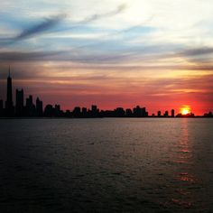 Chicago Sunset from my dinner cruise last week! 6/11/12