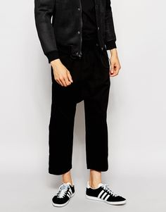 ASOS Drop Crotch Trousers With Gathered Waist Detail