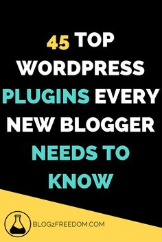 45 Top Plug-ins you need to check out for your wordpress site. Make Money Blogging, Blogging Ideas, Seo Tips, Wordpress Plugins, Blogging For Beginners, Social Media Tips, Making Ideas, How To Start A Blog, About Me Blog