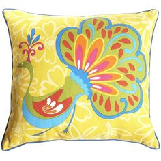 This Peacock Pillow makes patios a little showier from pier one?