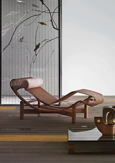 The Tokyo Chaise by Charlotte Perriand, 1940 for Cassina. / Pinterest