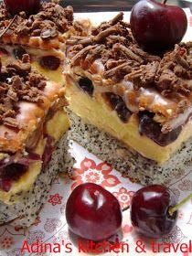 Romanian Desserts, Cherry Recipes, Gordon Ramsay, Food Cakes, Cheesesteak, Cake Recipes, Sweet Treats, Cheesecake, Food And Drink