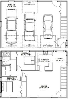 Image Result For 3 Car Tandem Garage Dimensions Garage