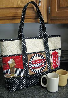 Really like this bag - the use of the panels on the side is novel & we have several panels that would work GREAT!: