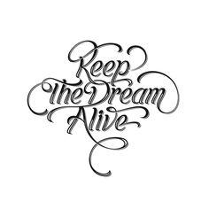 Keep The Dream Alive by Henrique Ibaldo, via Behance