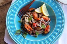 Salada de Mexilhões e Feijão Fradinho   Blog Figos e Funghis