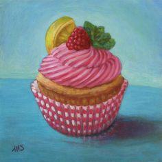 Marion Stephan - Cupcake 2, #marionstephanfineart, #cupcakepainting, #cupcake