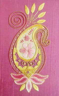 Silk Embrodiered Paisley