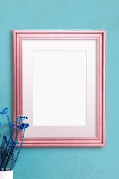 Pink Picture Frames, Holography, Cute Emoji, Frame Template, Free Illustrations, Blue Walls, Sticker Design, Mockup, Vector Art