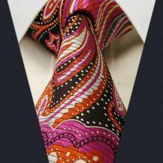 Black / Orange / Pink Floral Necktie