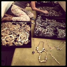 @SeventeenMag Accessories Editor @jassnow choosing jewelry for the cover shoot at Janis Savitt's showroom. See anything you like? #treasuretrove #jewelry - @seventeenmag- #webstagram