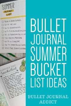 Bullet Journal Inspiration For Summer - Summer Bullet Journal Bucket List Ideas - Bullet Journal Summer Themes #bulletjournal #bujo #bujolist #bujolove #bujo2019 #summer #bucketlist #bulletjournalcollection #bujocollection