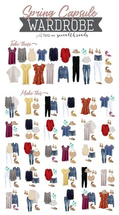 How to create a Spring Capsule Wardrobe. This 25 piece Spring Capsule wardrobe w. - How to create a Spring Capsule Wardrobe. This 25 piece Spring Capsule wardrobe with 30 created outf - Capsule Wardrobe Mom, Capsule Outfits, Fashion Capsule, Wardrobe Basics, Capsule Wardrobe How To Build A, Professional Wardrobe, Work Wardrobe, Summer Wardrobe, Spring Outfits