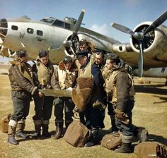 https://flic.kr/p/9fZQqk | Coastal Command Fortress  1943. | The crew of a Mk. IIx Fortress of 220 Sqn. before a mission.