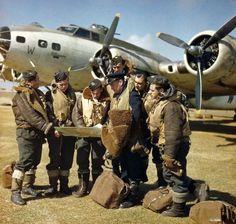 https://flic.kr/p/9fZQqk | Coastal Command Fortress  1943. | The crew of a Mk. IIx Fortress of 220 Sqn. before a mission.