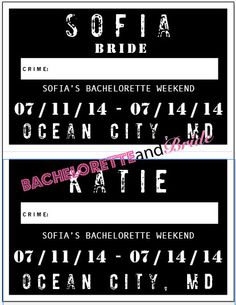 Please note: This listing is for the *DISTRESSED STYLE* version of our original mug shot signs which offers some new fun font choices. Bachelorette Party Signs, Bachelorette Weekend, Mug Shot Sign, Special Words, I Need To Know, Party Guests, Ocean City, Mug Shots, Cool Fonts