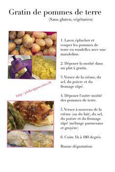 Gratin de pommes de terre Sans Gluten, Grated Cheese, Dish