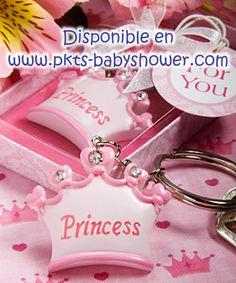 Recuerdos para Baby Shower - Llavero Tiara Princesa - Disponible en www.pkts-babyshower.com