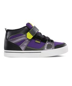 This etnies Gray & Purple Decade Leather Sneaker by etnies is perfect! #zulilyfinds