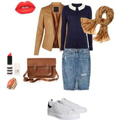 Cold weather by gabriela-kiteva on Polyvore featuring Dickins & Jones, Current/Elliott, adidas, The Cambridge Satchel Company, maurices, Reed Krakoff, Lime Crime and Topshop