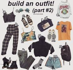A, B, J, O, L G You are in the right place about pop punk hair Here we offer you the most beautiful Grunge Outfits, Teen Fashion Outfits, 90s Fashion, Cool Outfits, Aesthetic Fashion, Aesthetic Clothes, Goth Outfit, Outfit Des Tages, Mein Style