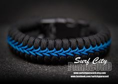 Double Paracord Fishtail with Center Stitch. by SurfCityParacord