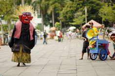 Ondel-Ondel. Giant puppet from Betawi - Jakarta.