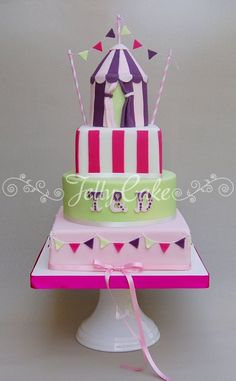 Carnival Wedding Cake.... Cute if setting up a kids table