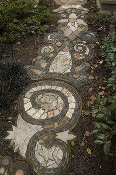 How to make a mosaic garden path!