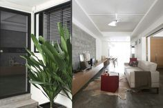 HDB front door and interior modern concept