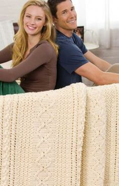 Heirloom Stitches Throw Crochet Pattern from Red Heart.... I've made a few of these.  Fun to make and beautiful outcome. Easy to crochet....